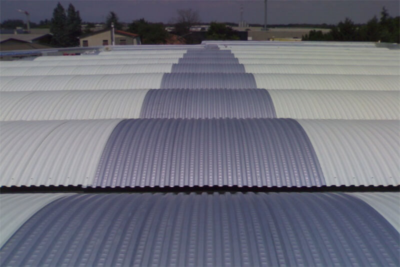 Plastic sheets, roof lights, frp panels TOTALUX curved sheets